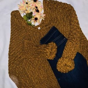 Oversized pullover knittedsweater sz S/M